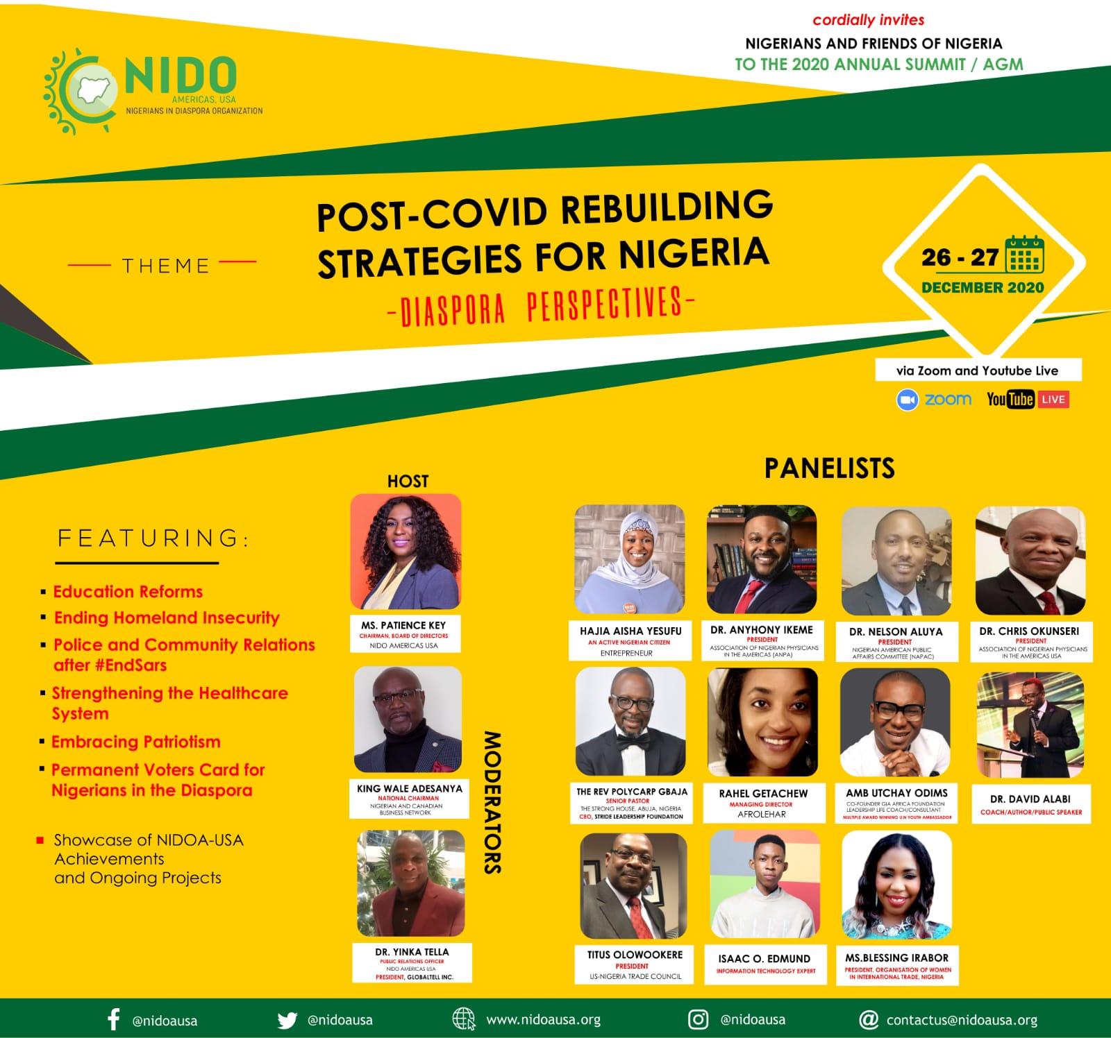 Amb. Utchay To Speak At The Nigerians In Diaspora Organisation (USA) On The Theme: POST COVID-19 REBUILDING STRATEGIES